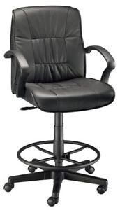 Alvin Ch777 90dh Art Director Executive Leather Chair Drafting Height