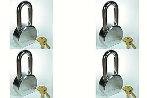 Lock Set By Master 6230kalh lot 4 Keyed Alike Long Shackle Solid Steel Body