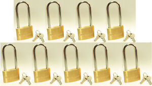Lock Set By Master 4150kalj lot 9 Keyed Alike Long 2 1 2 Shackle Brass Body