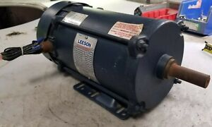Leeson 2 Hp Electric Ac Motor 208 230 460 Vac 1725 Rpm 3 Phase K145t Frame