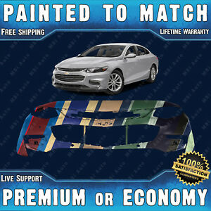 Painted To Match Front Bumper Cover Replacement For 2016 2018 Chevy Malibu 16 18