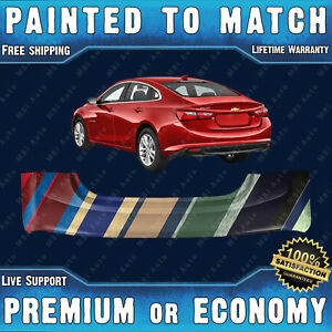 Dnew Painted To Match Rear Bumper Replacement For 2016 2017 2018 Chevy Malibu