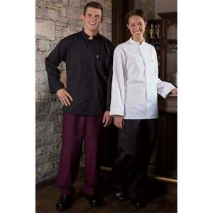 Uncommon Threads Yarn Dyed Baggy Chef Pant In Black Wine Stripe Large