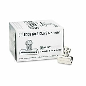 X acto 1 25 X 7 16 inch Small Steel Bulldog Clips pack Of 2