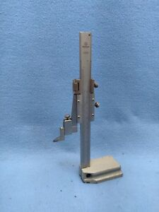 Mitutoyo 6 Vernier Height Gage Reads Inch And Metric