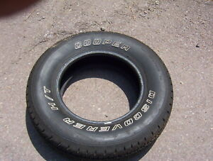 Cooper Discover H T Tire Size 215 75 15 Raised White Letters