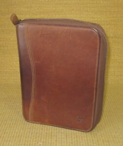 Classic 1 125 Rings Brown Distressed Leather Franklin Covey Planner binder