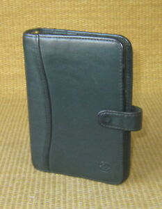 Pocket 1 Rings Green Leather Franklin Covey Leadership Open Planner binder
