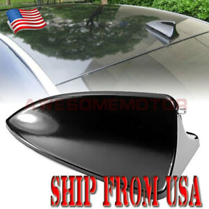 Us Car Black Shark Fin Style Roof Top Mount Antenna Tape Decoration For Toyota
