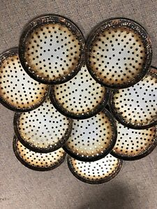 10 Lot 12 Perforated Pizza Pans Seasoned