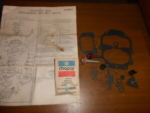 Nos Carburetor Repair Parts Carter Model Bbd 1 1 4 Solid Fuel 50 480 5 3780675
