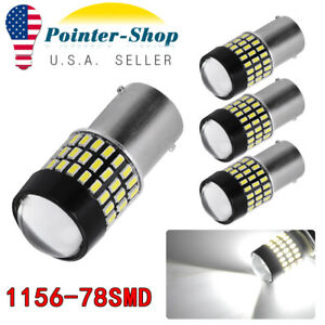 4pcs 1156 Ba15s White 78smd Backup Reverse Parking Led Light Bulbs 12v 24v