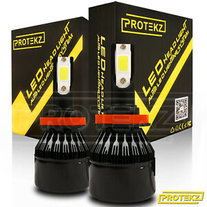 Protekz 9012 Hir2 Led Headlight Bulb Replace High Lo Beam 1500w 225000lm 6000k