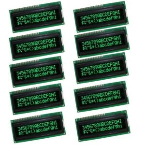 10pcs Lcd1602a 5v Character Dot Matrix Lcd Display Module 16x2 Black Background