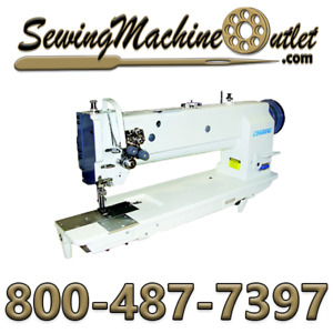 Consew P2339rbl 18 Double Needle 18 Long Arm Walking Foot W kd Stand And Servo