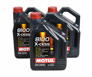 Motul 102870 Full Synthetic 8100 X cess Sae 5w 40 Engine Oil 4l 4 22 Qts 3 Pack