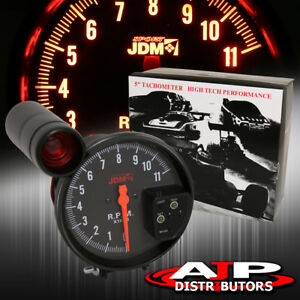 5 Black Face Tachometer 11k Rpm Tach Gauge With Red Shift Light All Mazda