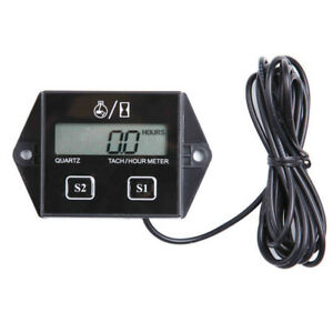 Lcd Digital Tach Hour Meter For 2 4 Stroke Gas Engine Motorcycle Atv Boat J0x7