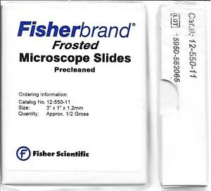 Fisherbrand Extra Thick Microscope Slides 3 X 1 Frosted1 2 Mm Thick 12 550 11