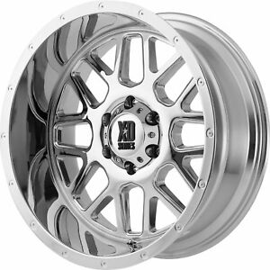 20x10 Chrome Xd Xd820 8x6 5 24 Rims Open Country A T Ii Tires