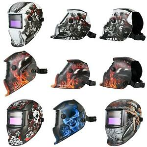 Jn_ Lots Solar Power Auto Darkening Welding Helmet Arc Tig Mig Welder Mask Uti
