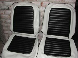 Mustang Custom Two Tone Seat Upholstery 1965 1968 For Front Buckets And Rear