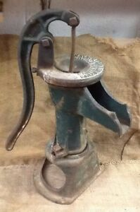 Vintage 19 Tall Cast Iron Well Water Hand Pump Elizabeth City N c Usa