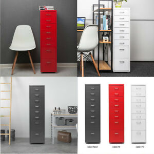 Ikayaa Metal Drawer Filing Cabinet Detachable Mobile W 8 Drawers 4 Casters Us
