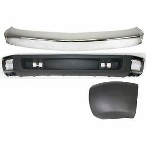 Bumper Kit For 2007 2008 Chevrolet Silverado 1500 Front Left 3 Piece