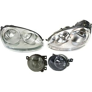 Headlight Kit For 2006 2010 Volkswagen Jetta Left And Right 4pc