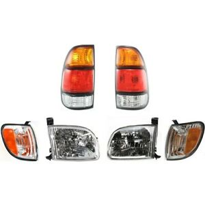Headlight Tail Light Parking Marker Turn Signal Lamp Kit For 00 04 Tundra Truck