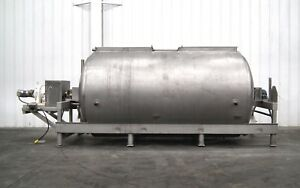 Mo 2524 Apv Crepaco 3000 Gallon Jacketed Horiz Fermentation Processing Tank