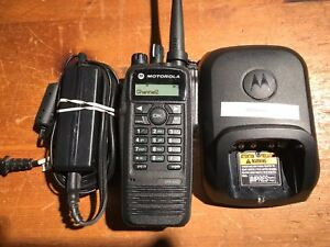 Motorola Xpr6550 Uhf 450 520 Mhz Aah55tdh9la1an With Charger Mint Condition
