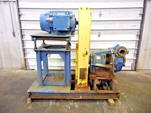 Rx 3623 Metso Hm150 Fhc d 6 X 4 Slurry Pump W 75hp Motor And Frame