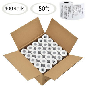 400 Rolls 2 1 4 X 50 Thermal Paper Cash Register Pos Receipt Paper Tape