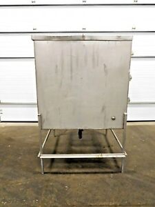 Mo 2511 Stainless Steel 304 Rectangular Tank 400 Gallon 48 X 48 X 48