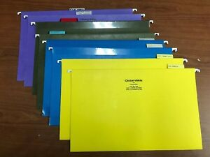 Multi Colored Hanging File Folder Legal Size box Of 100 1 3 1 5 Cut 8 1 2 X 14