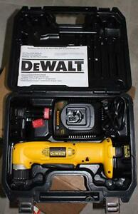 Dewalt Dw966 14 4 Volt 3 8 Right Angle Drill With Charger 2 Batteries Case