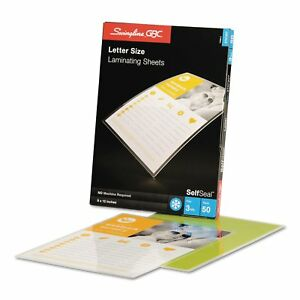 Swingline Gbc Selfseal Single sided Letter size Laminating Sheets 3mil 9 X 12