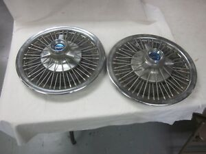 1965 66 67 Ford Mustang Fairlane Chrome Wire Spoke Hubcaps With Spinners 15