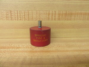 Sprague 715c Door Knob Capacitor 1600df 20kv