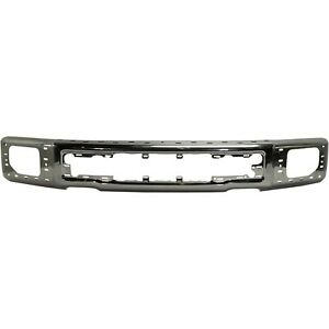 New Chrome Steel Front Bumper Face Bar For 2015 2017 Ford F150 Pickup W Fog