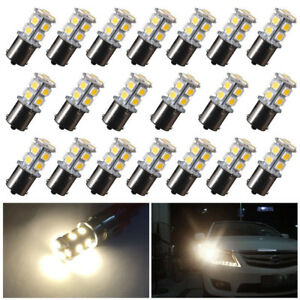 20pcs Warm White Led Light Bulbs 1141 13 Smd 12v 1156 Rv Camper Trailer Interior