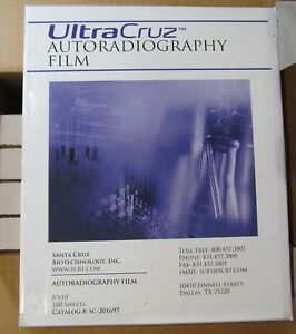 Case 500 Ultracruz Autoradiography Film 8 X 10 Sheets E Blue X ray Wb Sc 201697