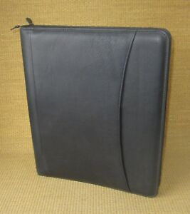 Monarch folio 1 25 Rings new Black Leather At a glance Planner binder Usa