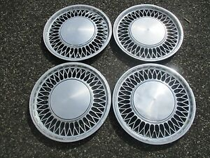 Lot Of 4 Mercury Zephyr Ford Fairmont 14 Inch Hubcaps Wheel Covers