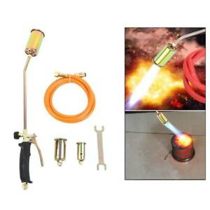 Portable Propane Weed Torch Burner Fire Starter Ice Melter Melting W 3nozzle