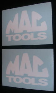 2 Mac Tools 6 White Decals Stickers For Trucks Toolbox Windows Vans
