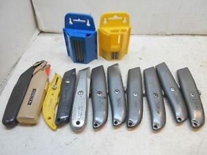 11 Utility Knives Box Cutters Razor Knives 1 And 1 4 Packs Of New Blades