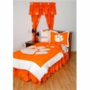 Comfy Feet Clebbtw Clemson Bed In A Bag Twin With Team Colored Sheets